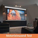 Motorleinwand Test